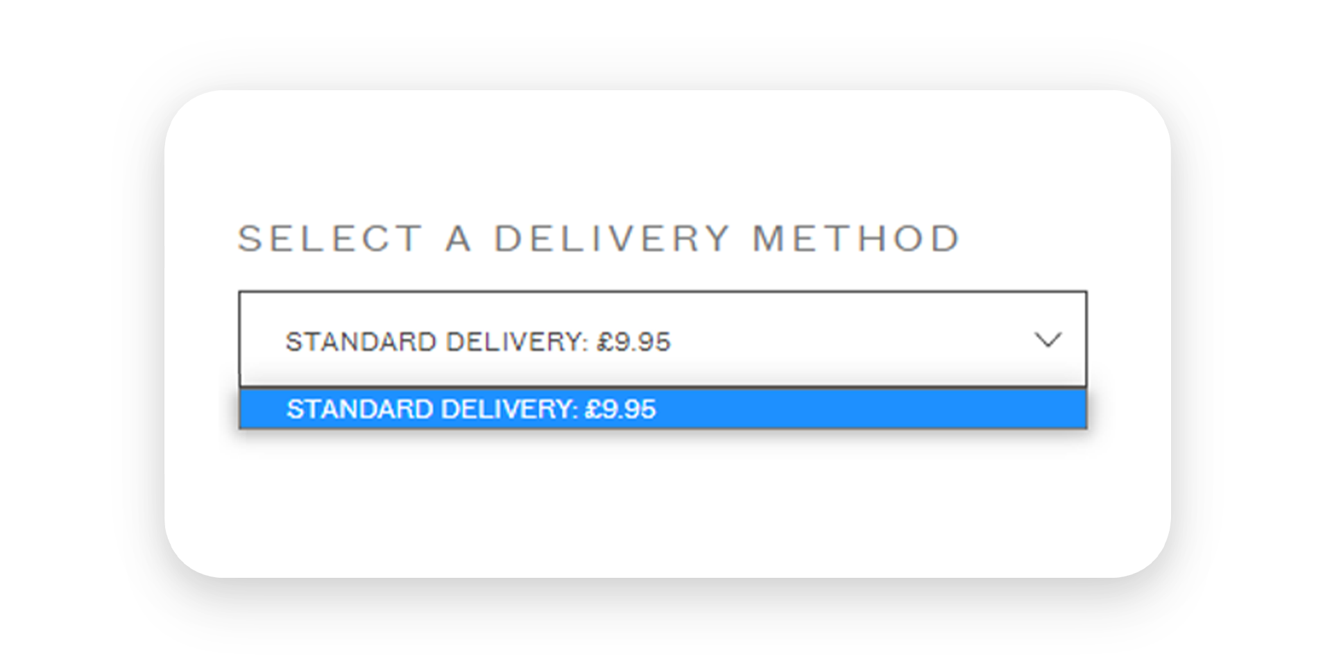 Selecting a delivery method
