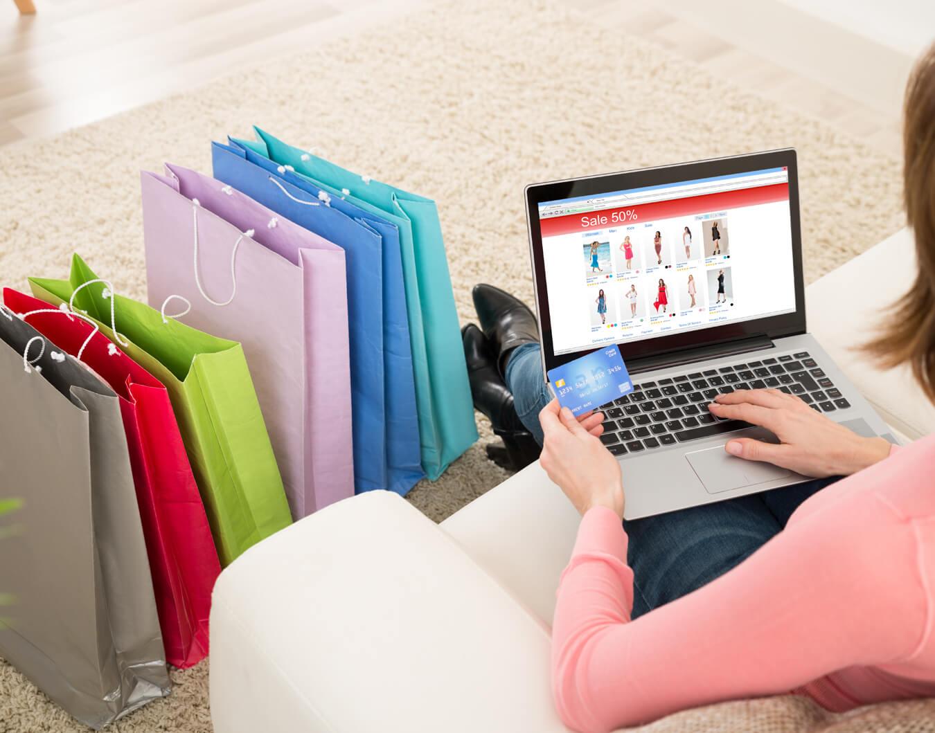 User shopping online